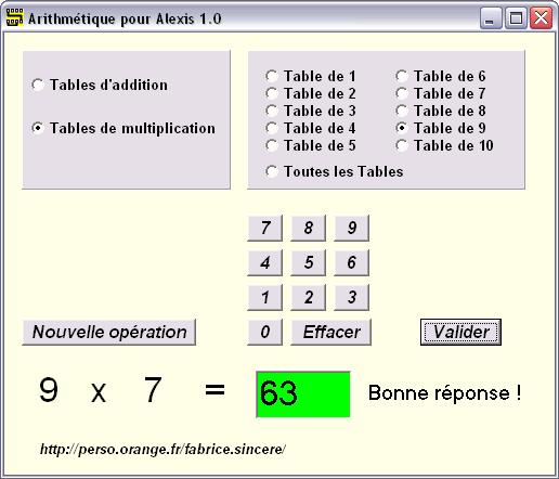 Electronique pratique applications pour windows - Application pour apprendre les tables de multiplication ...