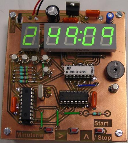 Minuteur timer longue dur e pic 16f84a 16f628a - Minuteur 7 minutes ...